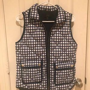 J. crew gingham puffer vest!